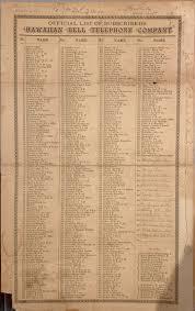 Telephone Listing