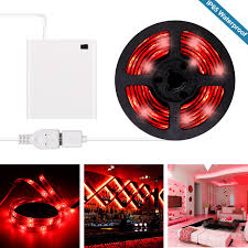 Battery Operated Red Led Lights Red Led Strip Lights Battery Powered Red Led Light Strip Kit With 6 6ft 2m Smd 3528 Ip65 Waterproof Super Bright Led Tape Light Battery Case By