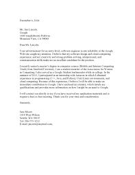 Cover Letter Software Engineer Entry Level Cover Letter Samples Vault Com