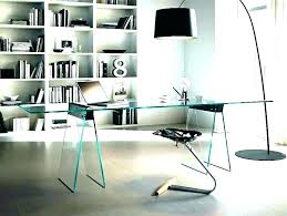 glass top office table chic. Glass Top Office Desk Glamorous Nice In White With Image Table Chic O