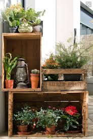balcony idea with wooden crates