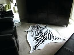 faux animal rug black and white faux zebra rug for awesome living room floor design faux