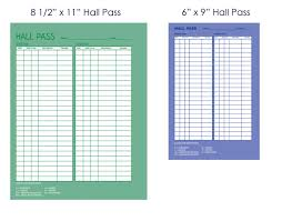 Hallway Pass Template Hall Passes For Student Security Tracking