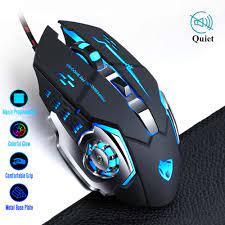 Pro Gamer oyun fare 8D 3200DPI ayarlanabilir kablolu optik LED bilgisayar  fareler USB kablosu sessiz fare overwatch fortnite oyunu|Mice