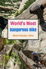 Surviving The World s Most Dangerous Hike Mt Huashan Trekking.