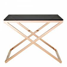 premier housewares criss cross end table gold black
