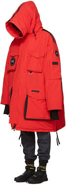 Today s ensemble included the red Snow Mantra parka. Vetements  take on Canada  Goose s classic features a zip that runs the length of the hood and an ...