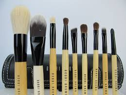 whole bobbi brown makeup 9pcs brushes set with black makeup case mac makeup mac cosmetics beauty