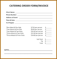 Sample Food Bill Format In Word Catering Invoice Template 9 Free For ...