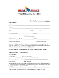 printable registration form template car show registration form templates word excel samples printable
