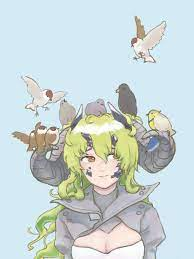 her voiceline about her bird friend leaving her totally destroyed my heart,  so I did this : arknights