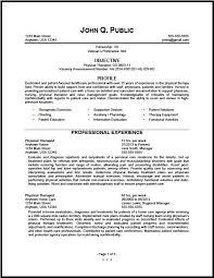 Radiation Therapist Resume Federal Physical Therapist Resume Sample The Clinic Best