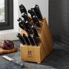 Zwilling J.A. Henckels Gourmet 14-Piece Knife Set + Reviews   Crate and Barrel