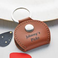 leather guitar pick holder