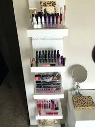Makeup Storage Shelves Makeup Shelf Makeup Storage And Organization Lack  Shelf Unit