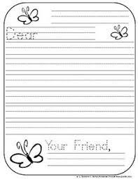Primary Letter Writing Paper 9 Best Letter Writing Template Images Letter Writing