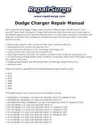 dodge charger repair manual 2006 2012 repairsurge com dodge charger repair manual the convenient online dodge charger repair manual