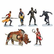 Disney <b>Marvel</b> Black Panther <b>Avengers</b> Figurine <b>Set</b> (<b>6 pc</b>) 2018 ...