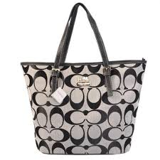 Cheap Coach Weekend Medium Zip Top Tote In Signature C Grey Sale From Coach  Outlet