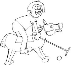 Ausmalbild Junge Und Pony Beim Polo Ausmalbilder Kostenlos Zum