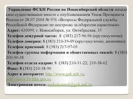 Отчет по практике Федеральная служба РФ по контролю за оборотом  4