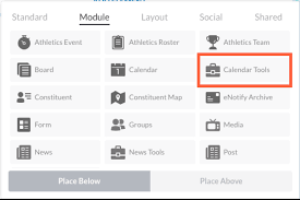 calender tools calendar tools element finalsite support