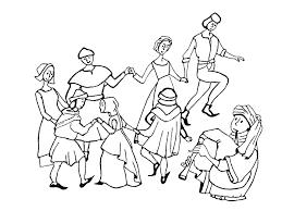 Moyen Age Danse Moyen Ge Coloriages Difficiles Pour Adultes