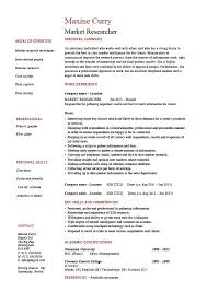 Market Research Resume Example Sample Researcher Interview Of To