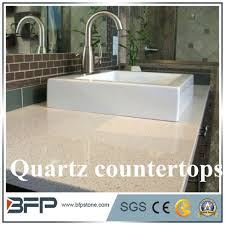 Hot Item Marble Look Customized Quartz Island Table Top For Modular Kitchen