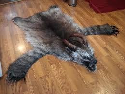 faux bear skin rug polar with head