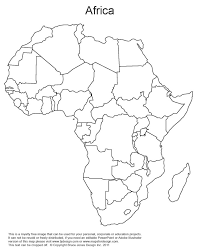 Beautiful Empty Africa Map Pics Printable Map New