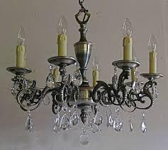 antique pewter chandelier
