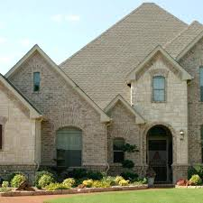 house and home plans house with beautiful mixture of light colored and white stone and brick