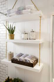 Wall towel storage Creative Schooner Chic Suspended Shelves Homebnc 34 Best Towel Storage Ideas And Designs For 2019