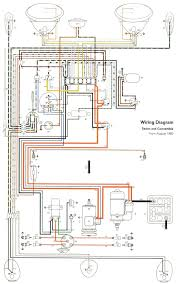 vw wiring harness diagram thesamba com type 1 wiring diagrams