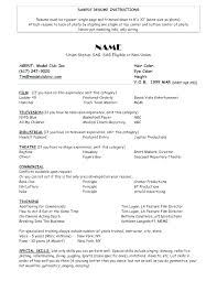Actor Resume Template Custom Talent Resume Format Actor Resume Format Resume Format Theater