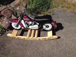 pink licensed harley davidson kidkraft motorcycle rocker rocking horse wooden vg 1732224842