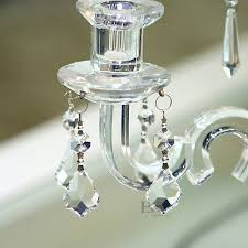 6 of 8 20pcs clear chandelier crystal lamp parts glass prisms 38mm hanging pendant drop