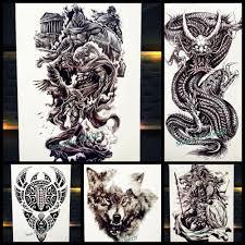 война воин временные татуировки греческий миф герой спарты водонепроницаемый