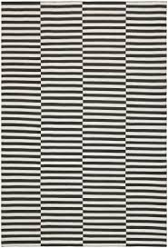 lovely black and white striped area rug striped dhurrie at rug studio