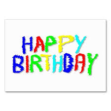 Happy Birthday Business Card Bright And Colourful Happy Birthday Business Card Template