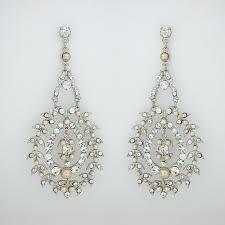 niagara crystal pearl chandelier earrings