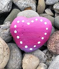 this would be adorable to make at camp ombre heart painted rock from carla schauer