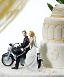 wedding cake toppers. home \u003e reception accessories wedding cake toppers * playful motorcycle \ p