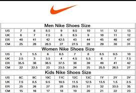 Chart Size Shoes Nike 1 Nike Roshe Shoe Size Chart Nike Chart Size Shoe Www