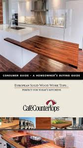 er s guide to wood countertops