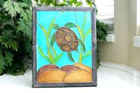 stain glass turtle stained glass turtle canvas painting faux stained glass crafts unleashed sea turtle stained