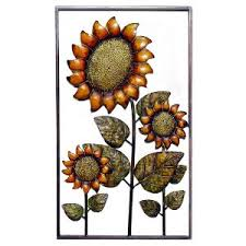 on sunflower wall art metal with sunflower metal wall art