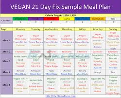 21 Day Fix Meal Chart How To Make The 21 Day Fix Vegan Friendly
