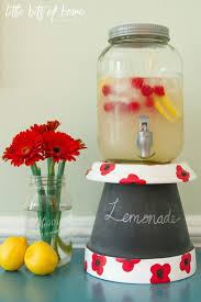 of inspiration gathering on i decided a drink stand would be the perfect thing to make with my pot i found this mason jar drink dispenser at